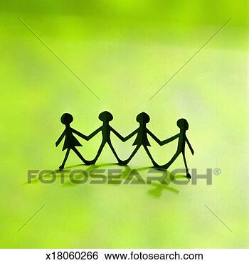 Stock image cutout children holding hands fotosearch search stock