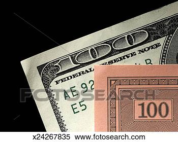 Série snímků - skutečný, jeden, sto, dolar, falšovat, jeden, sto. fotosearch - hledat snímky z obrázků a klipartů s fotografiemi