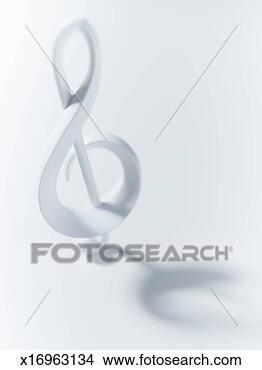 影像- 高音谱号, 符号