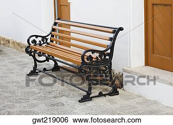 stock bilder bank drau en von a geb ude patmos dodecanese inseln griechenland gwt219006. Black Bedroom Furniture Sets. Home Design Ideas
