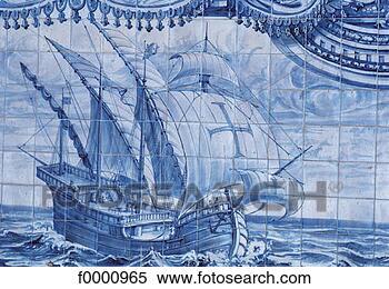 葡萄牙蓝色地图