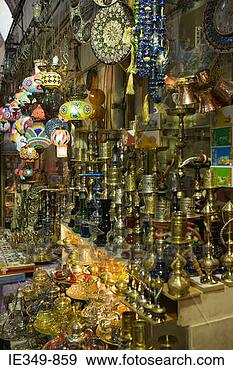 Stock Photograph - stall at istanbul  grand bazaar.  fotosearch - search  stock photos,  pictures, images,  and photo clipart