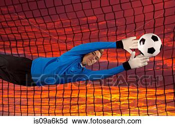免版税(RF)类图片 - 英式足球表演者, 偏转, 球,