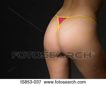 Foto - mulher,  desgastar,   thong. fotosearch  - busca de fotos,  imagens e clipart