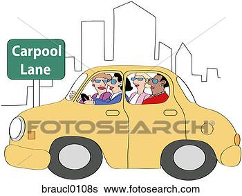 Stock Illustration - Carpool 3. Fotosearch - Search Clip Art, Drawings ...