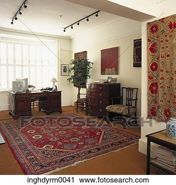 Archivio fotografico vista di uno studio con for Tappezzeria pareti