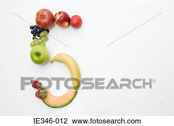 Zählen mit Bildern Frucht-form-zahl_~IE346-012