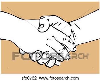 剪贴画 - 握手
