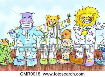 幼儿画动物牙齿