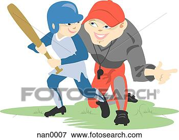 Stock Illustration - baseball coach. 