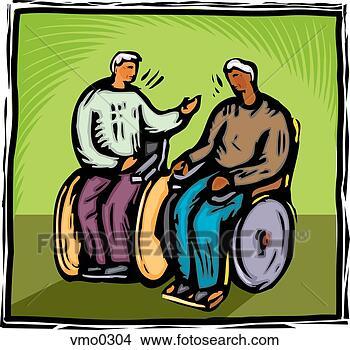 Disegni Due Uomini In Sedie Rotelle Vmo0304 Cerca