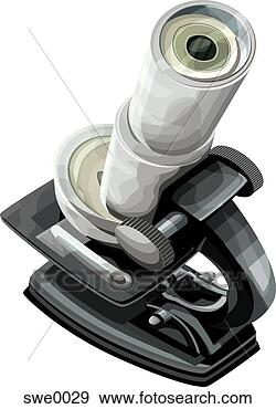 Stock illustration microscope fotosearch search vector clipart