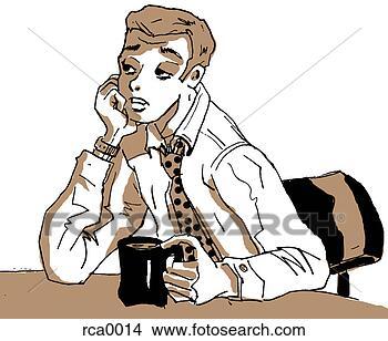 Dessins a fatigu homme affaires s 39 endormir sien for S endormir au bureau