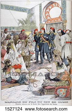 Stock Photo - marriage of the  son of the bey  of tunis, 1903  artist: unknown.  fotosearch - search  stock photos,  pictures, images,  and photo clipart