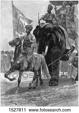 Stock Photography - arrival of the  nawab siraj ud  daulah before  clive's position,   india. fotosearch  - search stock  photos, pictures,  wall murals, images,  and photo clipart