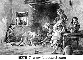 Picture - the irish famine,  (1900) artist:  unknown. fotosearch  - search stock  photos, pictures,  images, and photo  clipart