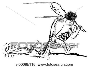 caveman-dragging-cavewoman_~vl0008b116 - The worst thing you can do for love is deny it - Love Talk
