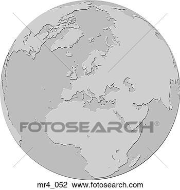 Map Of Europe Globe