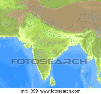 亚洲地图矢量素材