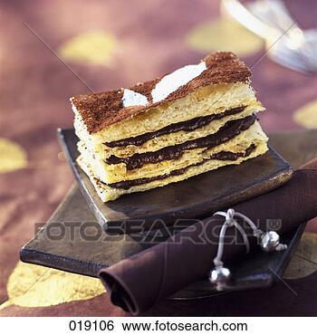 chocolat millefeuille patisserie 019106
