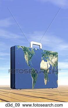 World Map Close Up