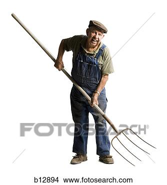 farmer pitchfork