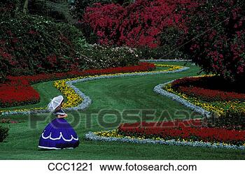 Stock photography of usa florida cypress gardens young for Cypress gardens mural