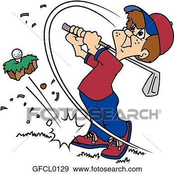 Clip Art - Golfer Cartoon