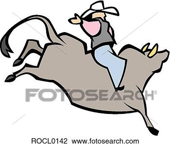 Clipart - ταύρος,  ιππεύς. fotosearch - αναζήτηση κλιπαρτ ζωγραφιάς και εικόνας