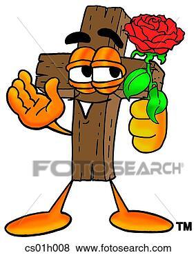 kreuz rose