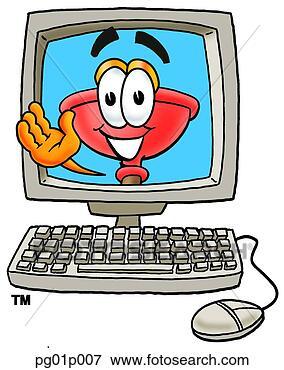 剪贴画 - 跳水人, 在中, 计算机图片