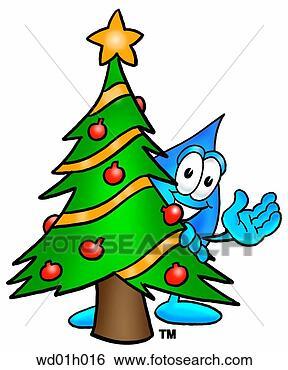 幼儿圣诞树贴画
