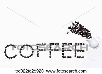 手绘图 - 烤, 咖啡豆
