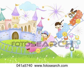儿童乐园示意图