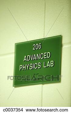 Stock foto fortgeschritten physik labor zeichen fotosearch