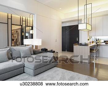 Images moderne int rieur appartement style maison for Voir interieur maison moderne