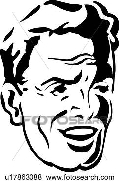 Clip Art - smiling man  fotosearch - search clipart  illustration    Smiling Man Clipart
