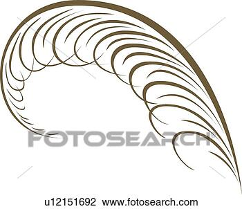 Feather Clip Art Clipart - feather calligraphic