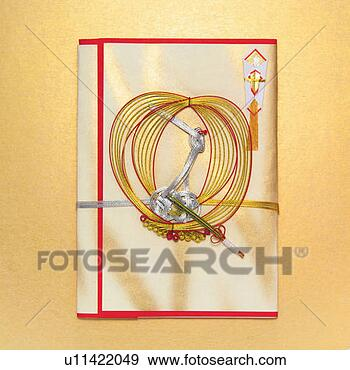 Stock Photograph of Japanese special envelope for congratulatory gifts ...