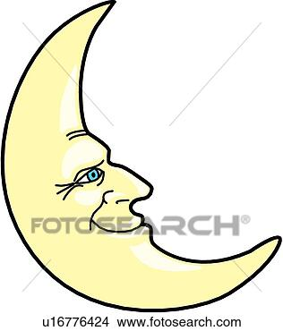 中秋月亮手绘插画