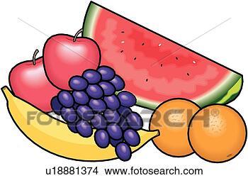 Clipart frutta gruppo cibo u18881374 cerca clipart for Clipart frutta