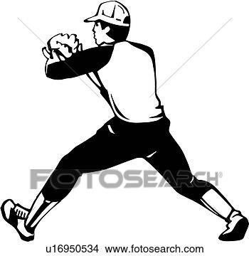 クリップアート(切り張り)イラスト「絵画」集 - 野球野手. Fotos... 野球野手u169