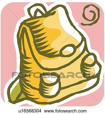 Clipart necessaries cole sac dos cartable - Clipart cartable ...