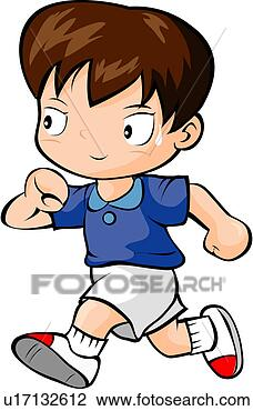 Clip Art Cartoon Runner