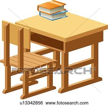 School Desk And Chair Clip Art Clip art - object, table,