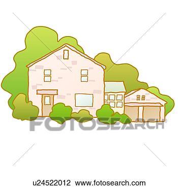 房子边框矢量图