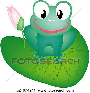 莲花, 花, 青蛙
