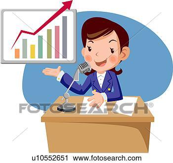 Clipart - ancre, femme, plein, âge, radiodiffusion, nouvelles, graphique. fotosearch - recherchez des cliparts, des illustrations, des dessins et des images vectorisées au format eps