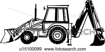 Construction heavy equipment trade view large clip art graphic
