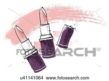 手绘图 - 化妆品